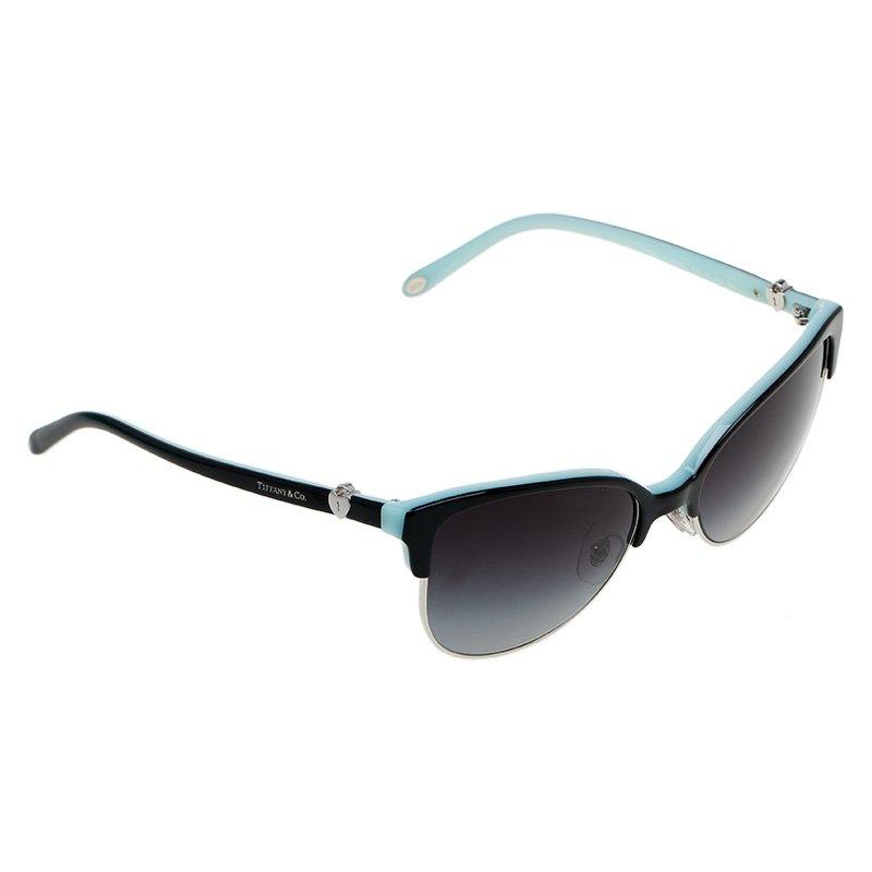 d9ab4104d646f Buy Tiffany   Co. Black and Blue 4080 Cat Eye Sunglasses 51431 at ...