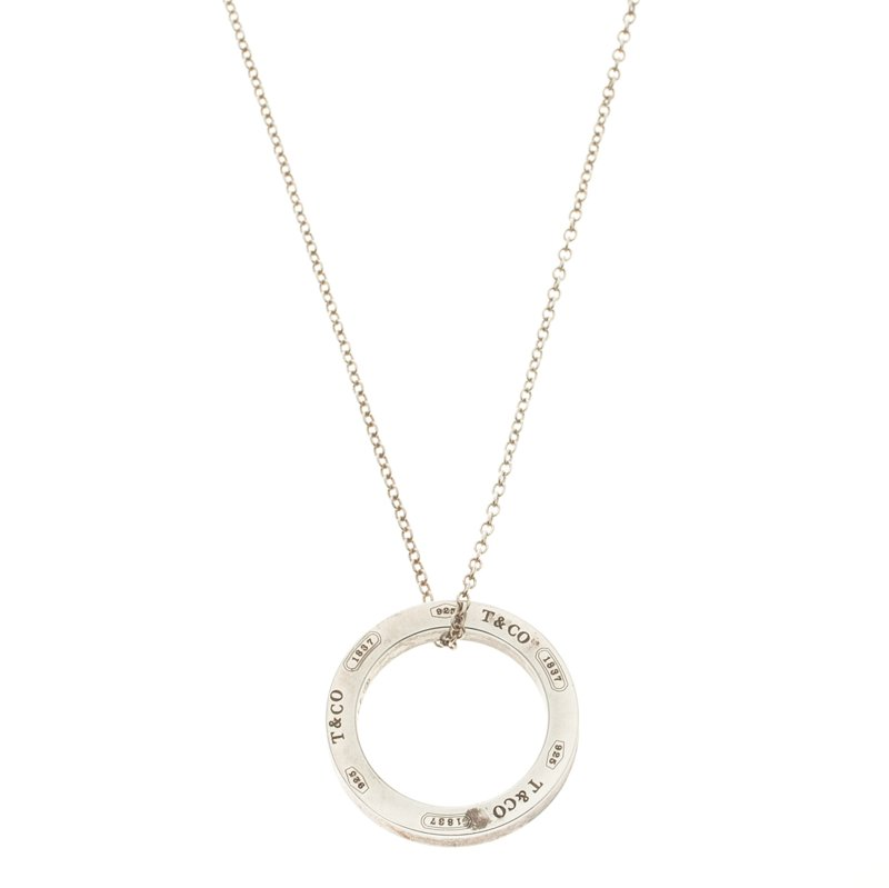 f6abf9566 Buy Tiffany & Co. 1837 Circle Silver Medium Pendant Necklace 107970 ...