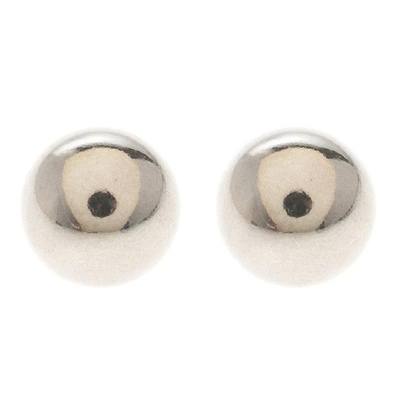 3d3c397dd Buy Tiffany & Co. Silver Bead Stud Earrings 107993 at best price | TLC