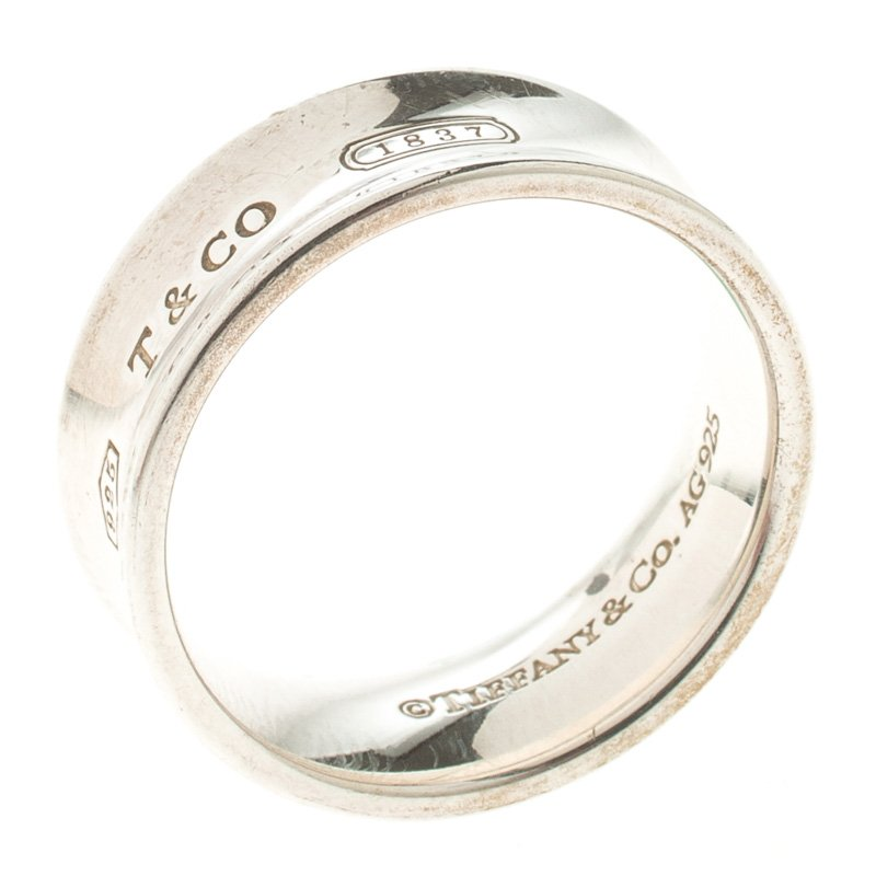 7255911d0ed19 Tiffany & Co. 1837 Silver Band Ring Size 55