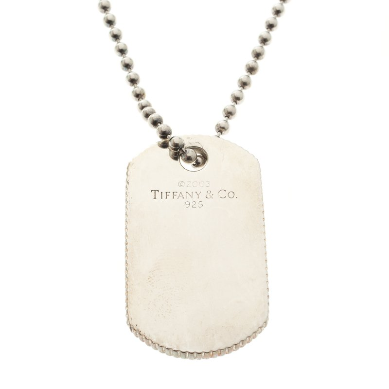 7d49fdb49 Buy Tiffany & Co. Coin Edge Silver Tag Pendant Necklace 110576 at ...
