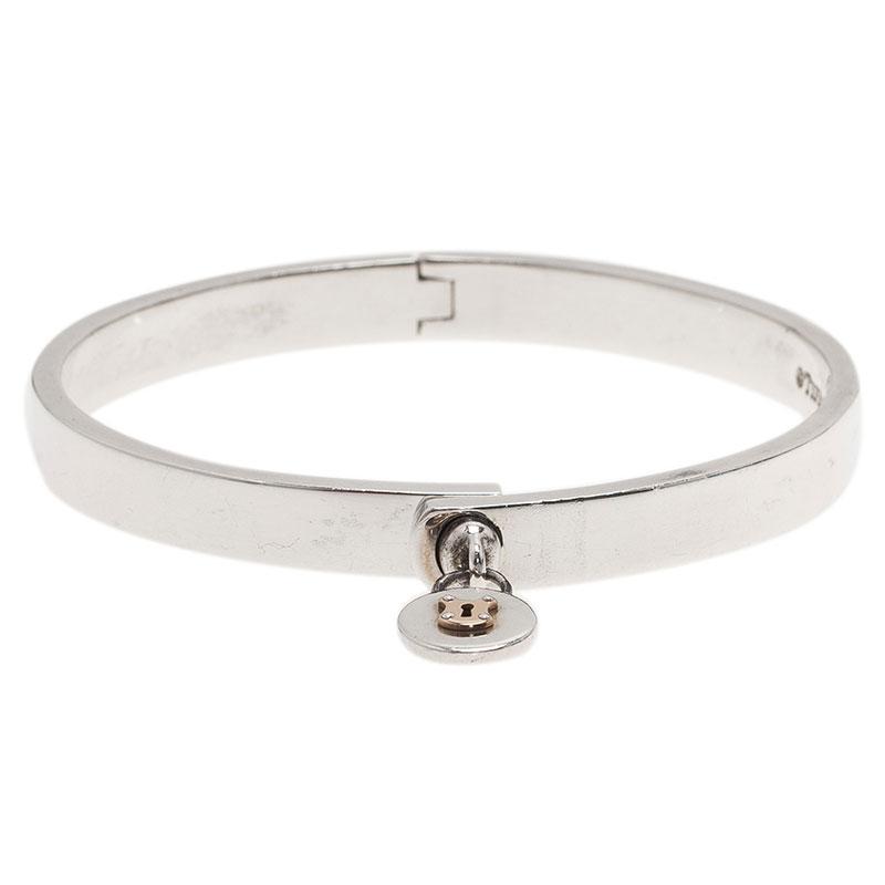 324d631b2 Buy Tiffany & Co. Vintage Lock Silver and Gold Bangle Bracelet 40133 ...