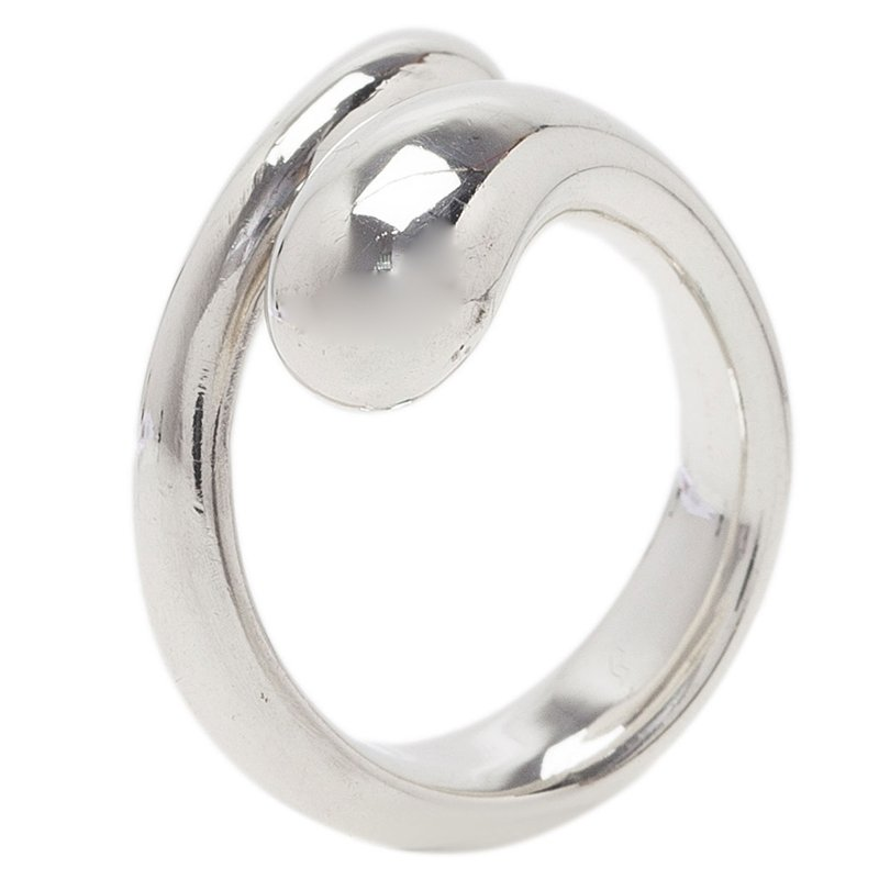 49df3e3ac Buy Tiffany & Co. Elsa Peretti Teardrop Silver Ring Size 49 41635 at ...
