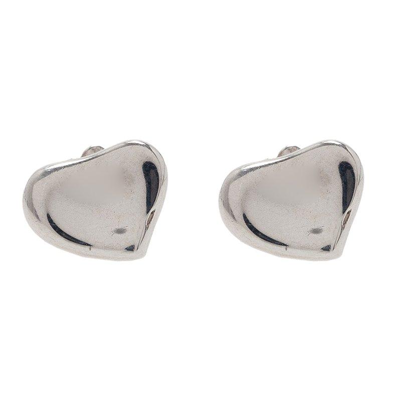 08c62405f Buy Tiffany & Co. Elsa Peretti Full Heart Silver Stud Earrings 41655 ...