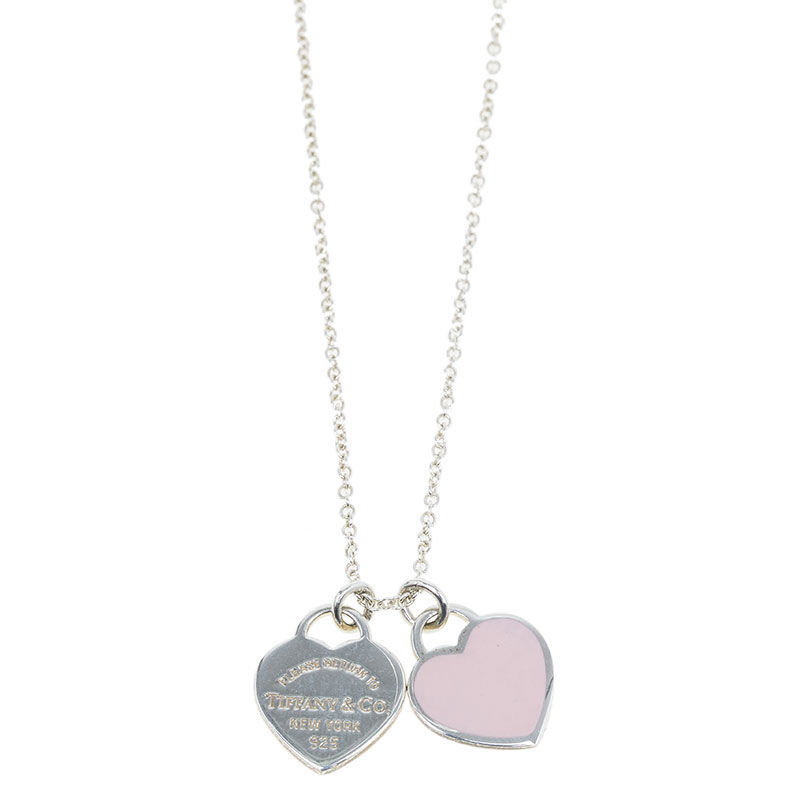 3b842954d Return To Tiffany Double Heart Tag Pink Pendant Necklace. nextprev. prevnext