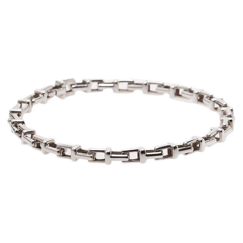 ba8187fb7 Buy Tiffany & Co. Tiffany T Sterling Silver Narrow Chain Bracelet ...