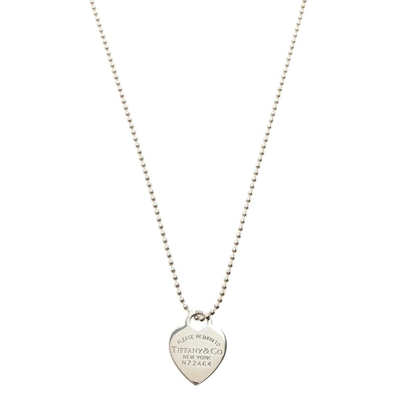 75db36471 Buy Tiffany & Co. Return To Tiffany Heart Tag Silver Long Necklace ...