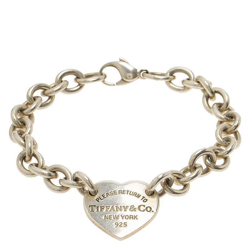 fc7bb0186 Buy Tiffany & Co. Return to Tiffany Heart Tag Silver Bracelet 59557 ...