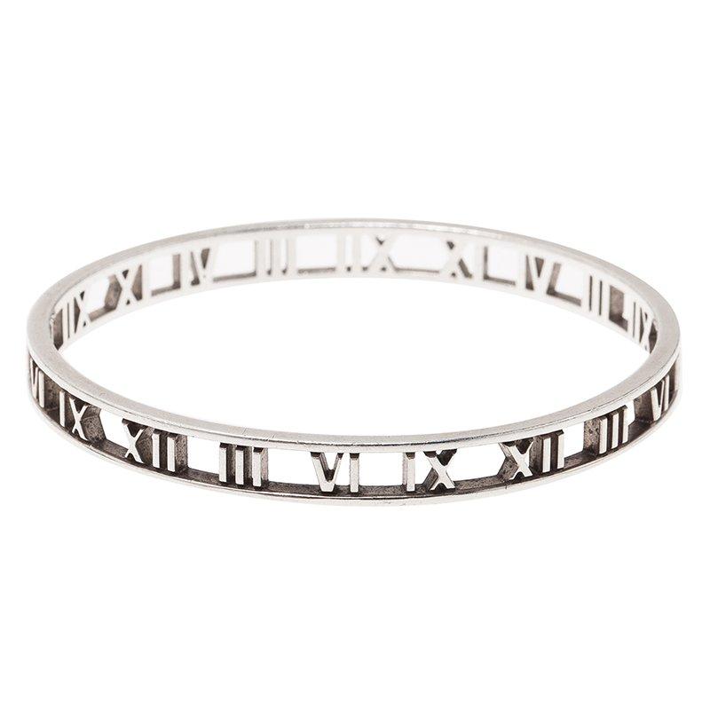 Tiffany & Co. Atlas Silver Bangle Bracelet