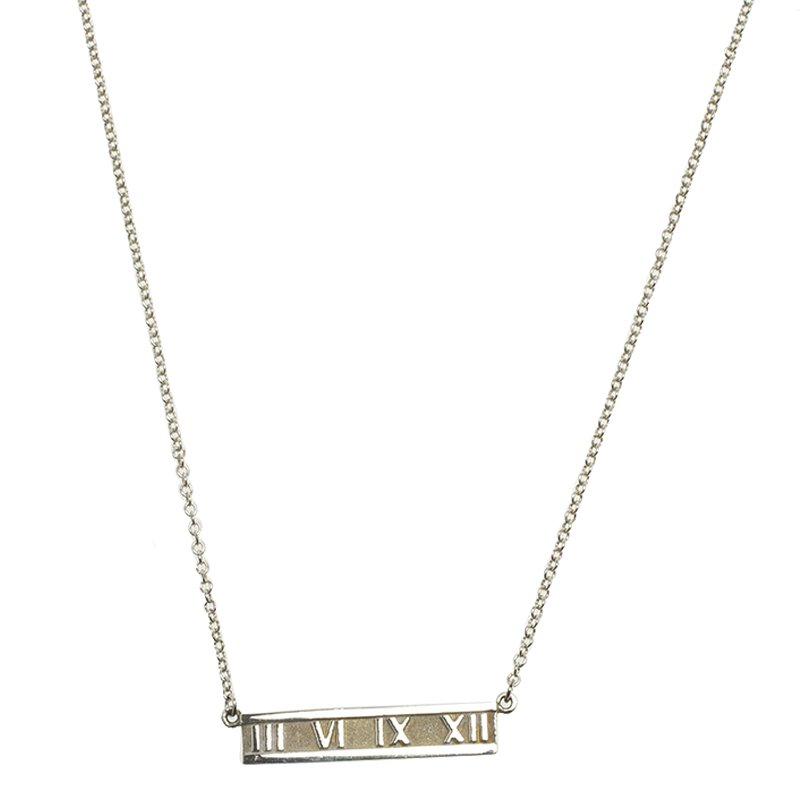 2955fc16d704 Tiffany 18k White Gold Diamond Bar Pendant Necklace 72159. Prevnext. Tiffany  Co Atlas Silver Bar Pendant Necklace 63600 At Best