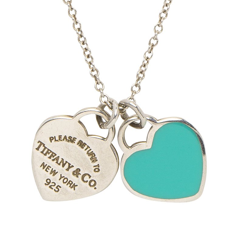 04807efa4 Buy Tiffany & Co. Return to Tiffany Mini Double Heart Tag Pendants ...