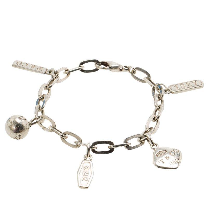 6754c75c2 Buy Tiffany & Co. Tiffany 1837 Silver Charm Bracelet 86832 at best ...