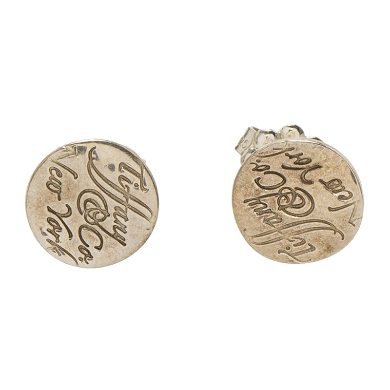 74a3be1b0 Buy Tiffany & Co. Tiffany Notes Round Silver Stud Earrings 87280 at ...