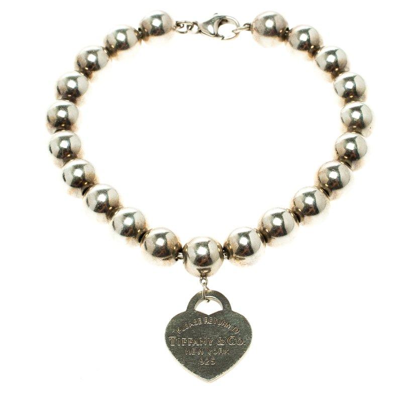c7f2a83f7 Return To Tiffany Heart Tag Silver Bead Bracelet 18cm. nextprev. prevnext