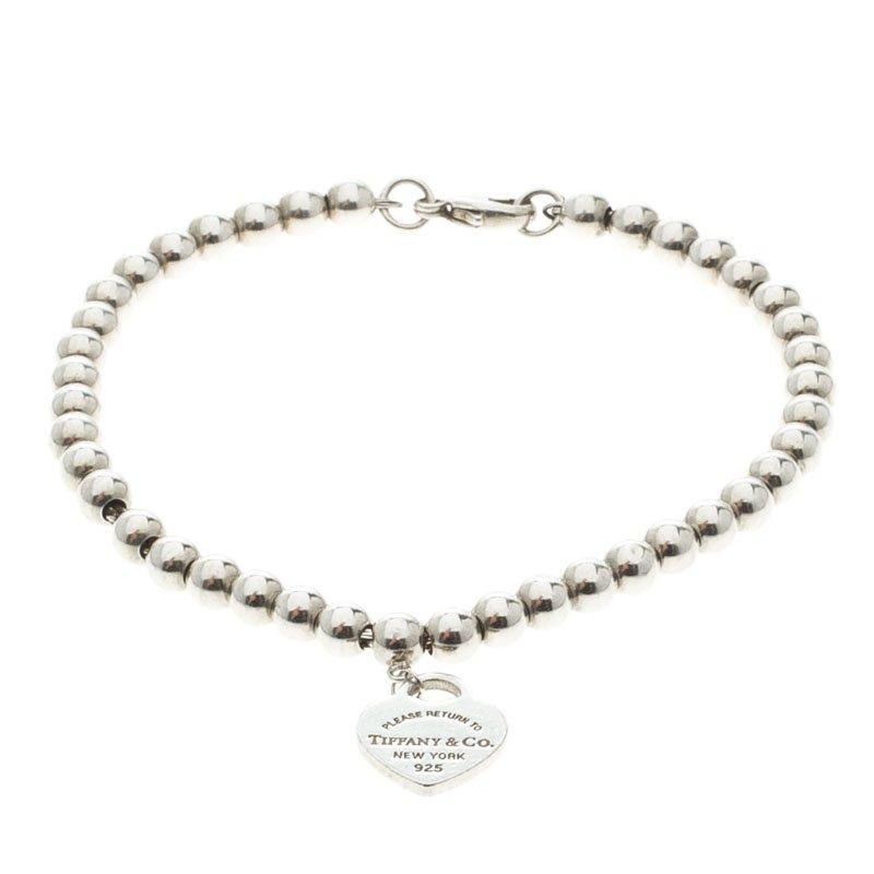 8d4cf3e73 Return to Tiffany Heart Tag Silver Beads Bracelet 17cm. nextprev. prevnext