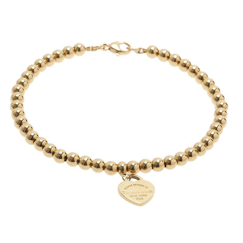 e6f929142 Return To Tiffany Mini Heart Tag 1Yellow Gold Bead Bracelet. nextprev.  prevnext