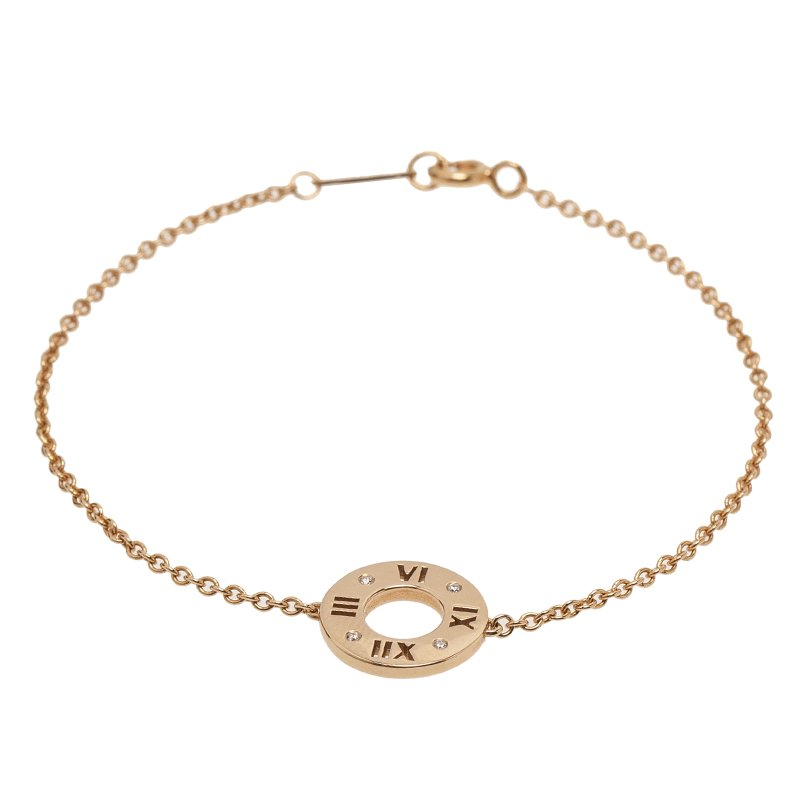 d86f6ce51 Buy Tiffany & Co. Atlas Pierced Rose Gold Diamond Bracelet 51578 at ...