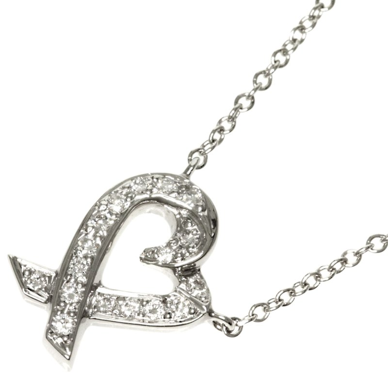 be1618983 Paloma Picasso Loving Heart Diamond Platinum Pendant Necklace. nextprev.  prevnext