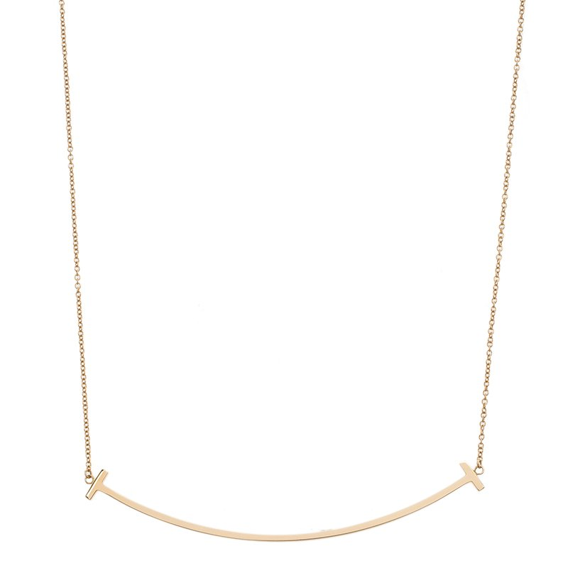 04178ce80 Buy Tiffany & Co. T Smile Rose Gold Necklace 63611 at best price   TLC