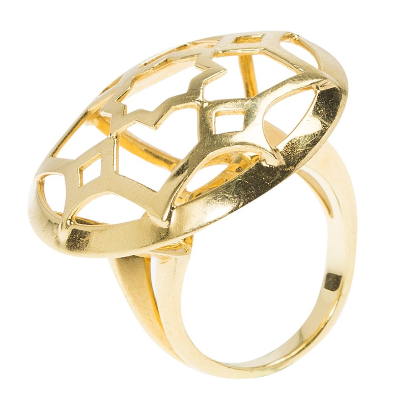 8cac601ea Paloma Picasso Marrakesh Large Open Dome 18k Gold Ring Size 50. nextprev.  prevnext