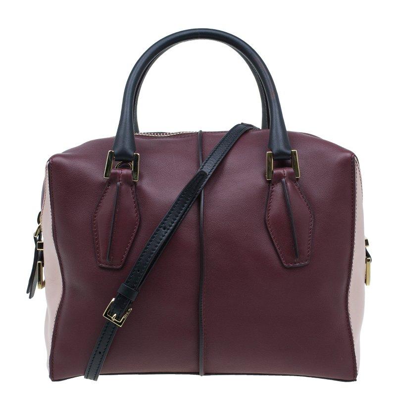 5a62cdcc84b ... Tod's Burgundy/Pink Leather Small D-Cube Bowler Bag. nextprev. prevnext