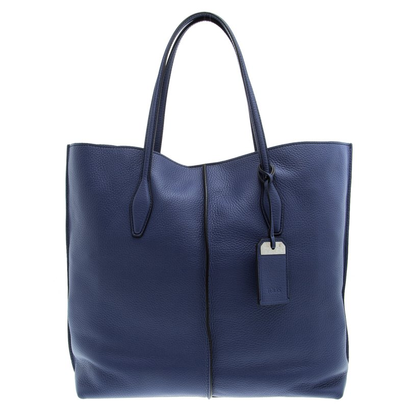 2f5f35e82f Buy Tod's Blue Leather Medium Joy Shopper Tote 94097 at best price | TLC