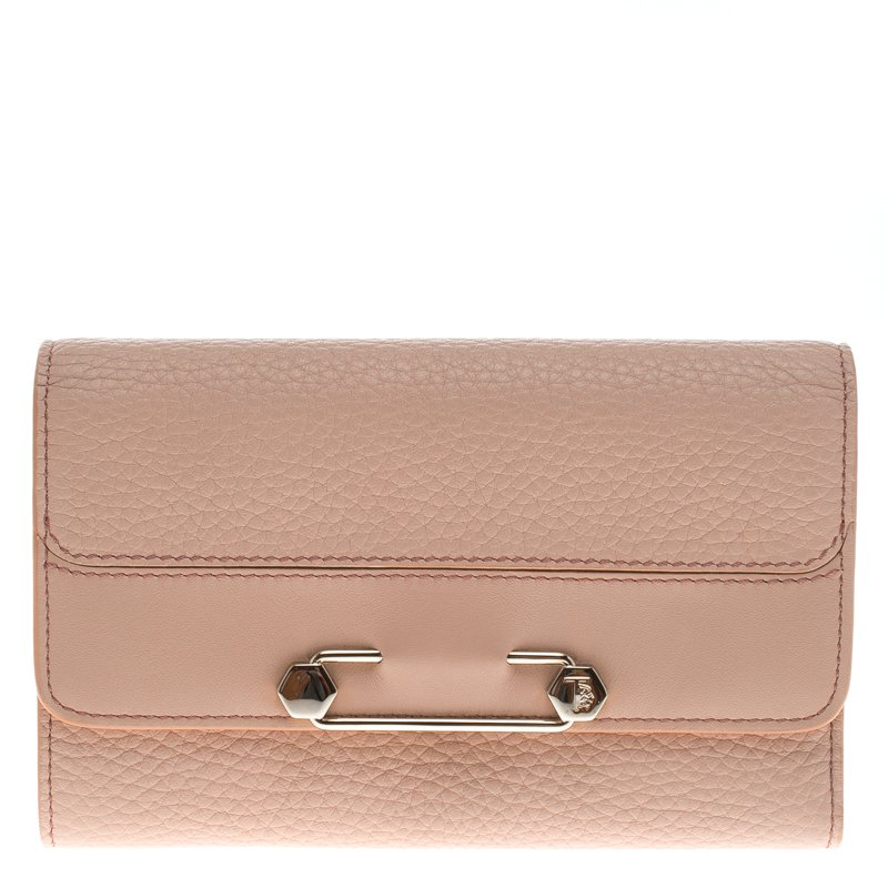 57a8651626 Buy Tod's Pink leather Brooch Wallet 94834 at best price | TLC