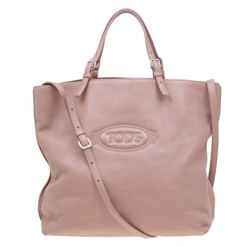 908fbbab9b Buy Tod's Blush Pink Leather Large Toronto Shopper Tote 57575 at ...