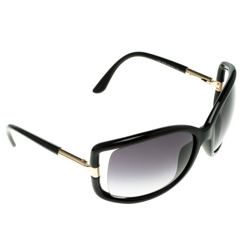 c331cf996c Buy Tom Ford Black TF 125 Anais Oversized Sunglasses 103137 at best ...