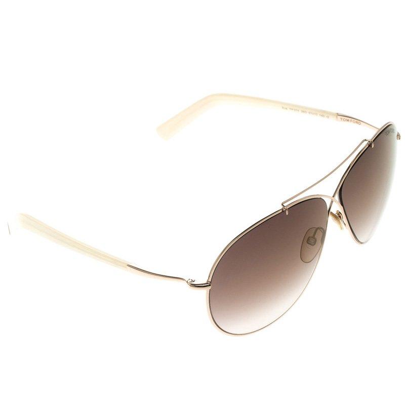 8b3be5ac633 Buy Tom Ford Brown TF374 Eva Aviator Sunglasses 110005 at best price ...