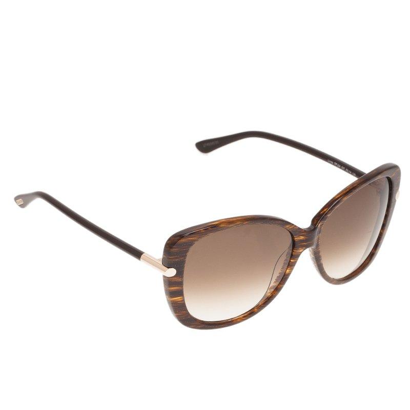3df8f8d05de Buy Tom Ford Brown Linda Cat Eye Sunglasses 42376 at best price