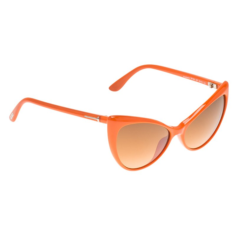 fa3f8e42ac Buy Tom Ford Orange Anastasia Cat Eye Sunglasses 66828 at best price ...