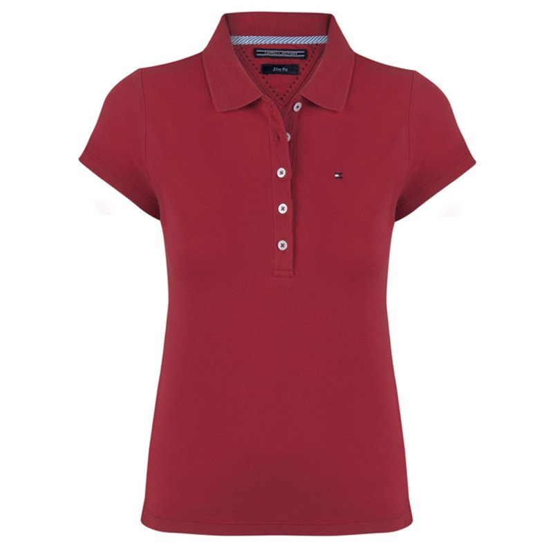 7c788121 Buy Tommy Hilfiger Red Logo Polo Shirt L 72528 at best price | TLC