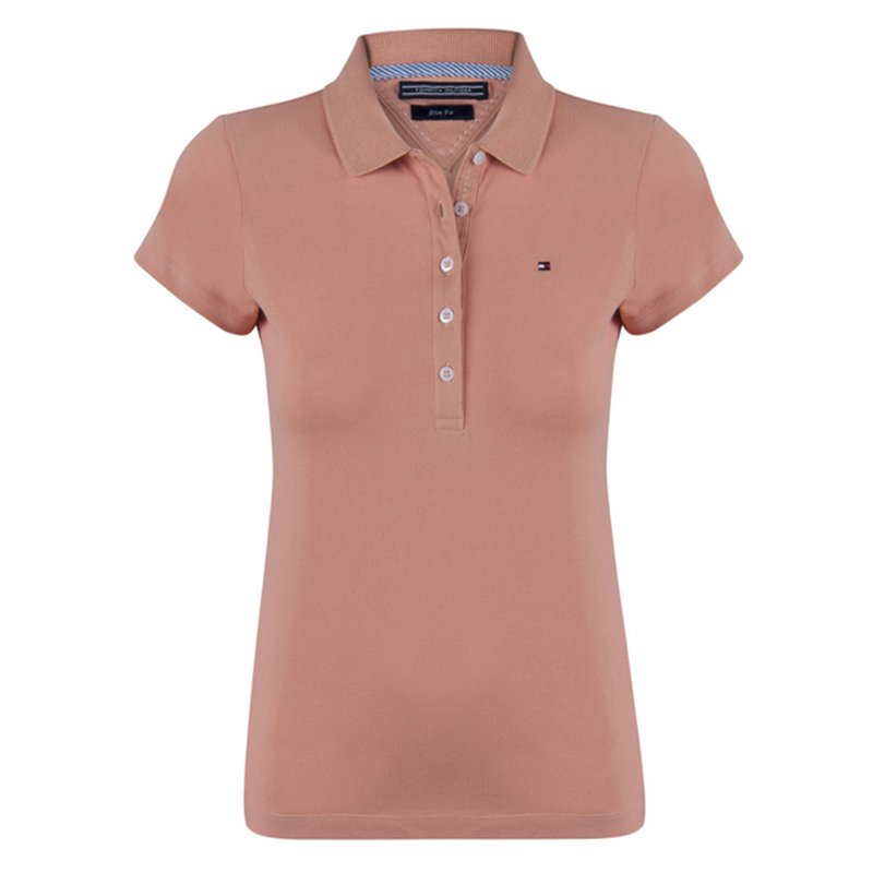 aa2664693 Buy Tommy Hilfiger Light Brown Logo Polo Shirt M 72533 at best price ...