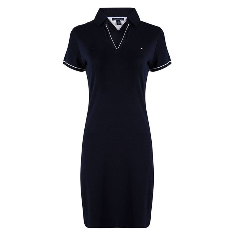 dca9a947 Buy Tommy Hilfiger Navy Blue Cotton Polo T-Shirt Dress L 90838 at ...