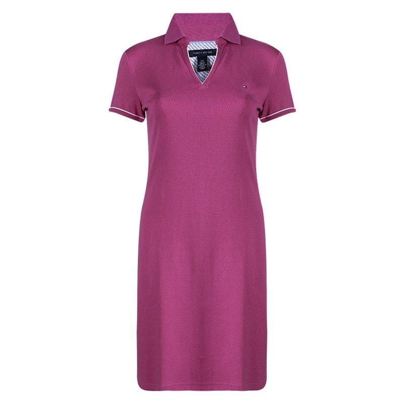 c4c83c2b0635e ... Tommy Hilfiger Pink Cotton Polo T-Shirt Dress M. nextprev. prevnext