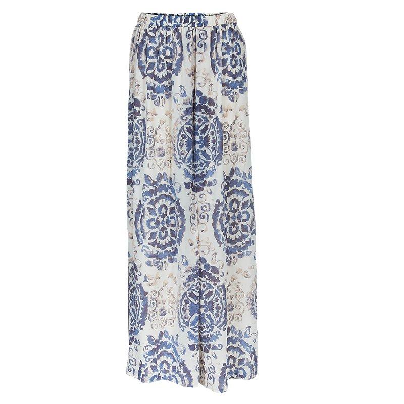 647bc0145701 Buy Tory Burch Soraya White Printed Maxi Skirt M 47998 at best price ...