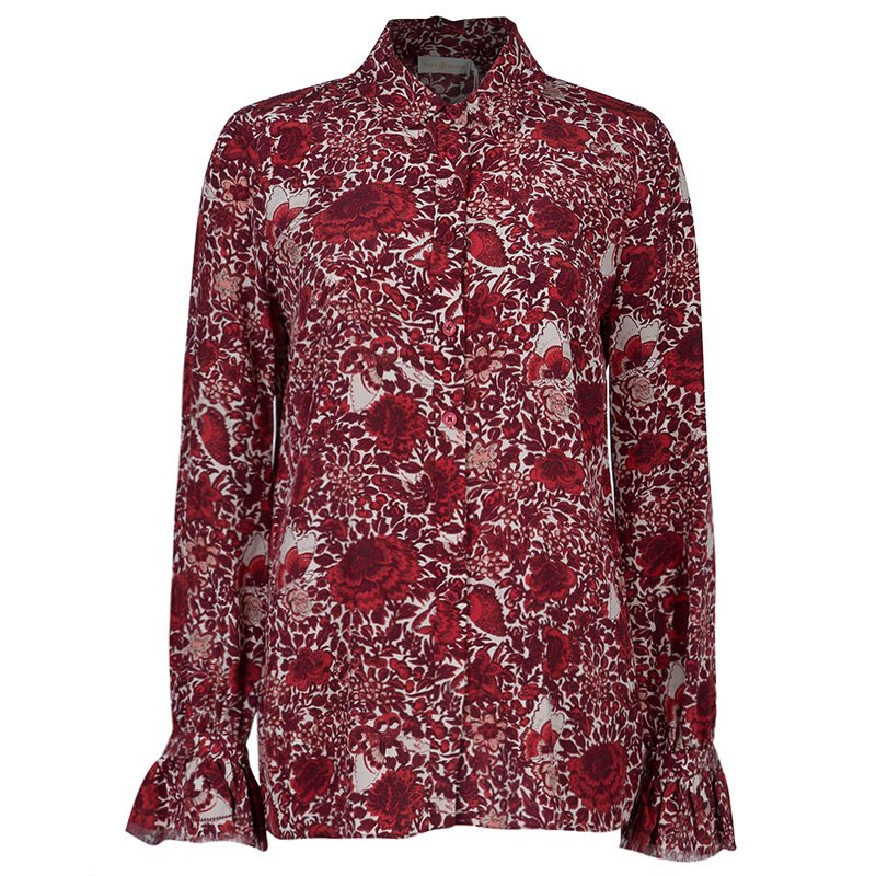 0bfa125e04b Buy Tory Burch Cora Red Floral Print Shirt S 48004 at best price