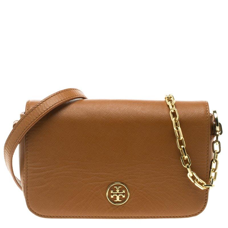 80ab2ef72c8 ... Tory Burch Brown Leather Mini Robinson Chain Shoulder Bag. nextprev.  prevnext