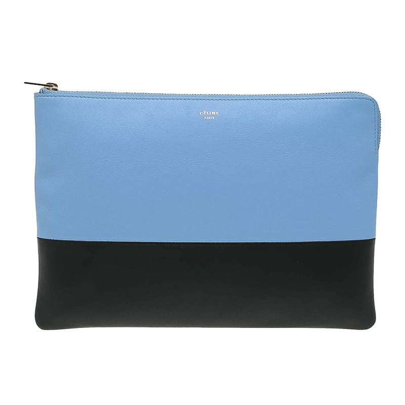 5ad2b699f197 Buy Celine Bi Color Leather Solo Clutch 68675 at best price