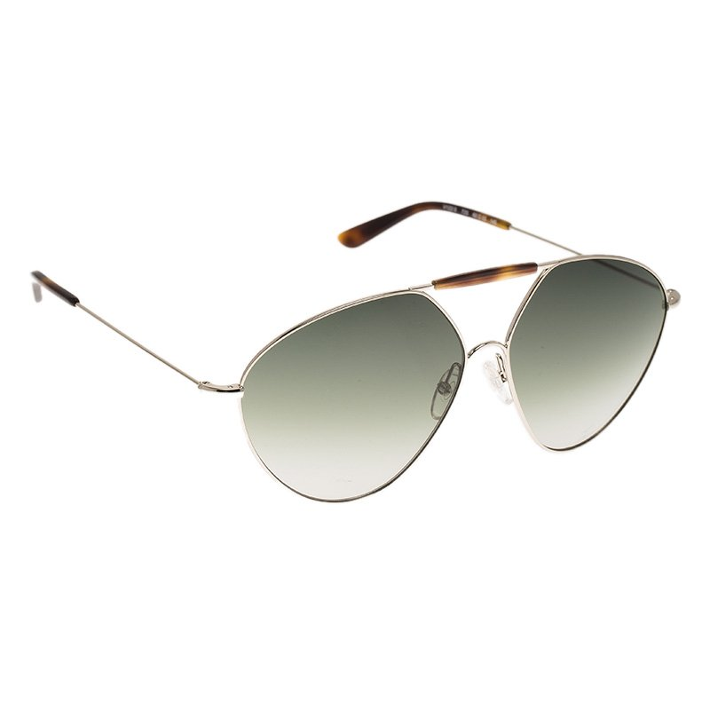 c85cf4017c Buy Valentino Brown and Silver V122S Aviator Sunglasses 69393 at ...