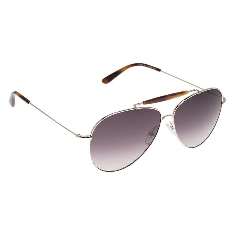 Valentino Silver and Tortoise V120S Aviator Sunglasses