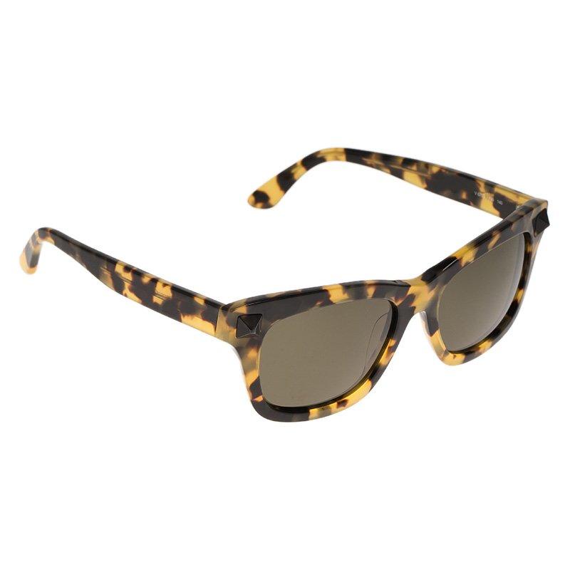 5d9f0fe42 Buy Valentino Tortoise Frame V670S Rockstud Wayfarer Sunglasses ...