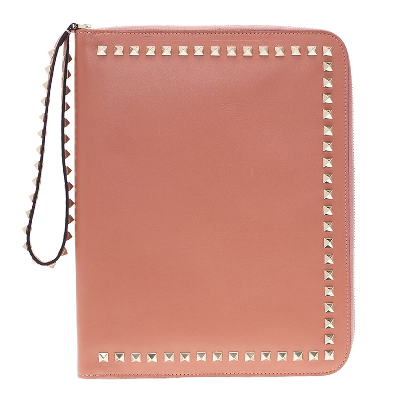 08d6bf908 ... Valentino Nude Leather Rockstud Zip Around iPad Case. nextprev. prevnext