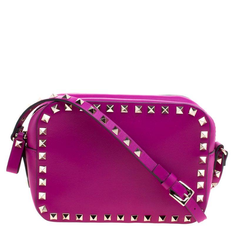 193fb799d5 ... Valentino Purple Leather Rockstud Camera Shoulder Bag. nextprev.  prevnext