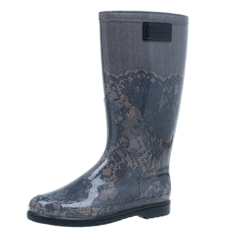 d550dfcaf5f1 ... Valentino Black and Nude Lace Rain Boots Size 40. nextprev. prevnext