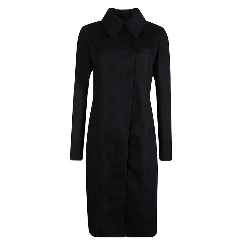 Vera Wang Black Denim Overcoat S