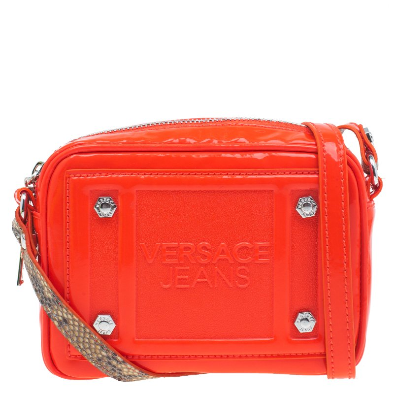 4e148573af20 ... Versace Jeans Orange Patent Leather Small Crossbody Bag. nextprev.  prevnext
