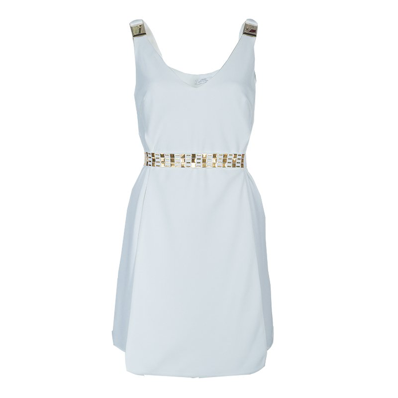 4a7d7fbe27f Buy Versace White Belted Dress M 54717 at best price