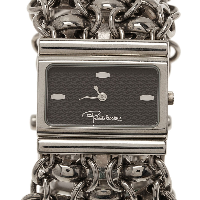 Roberto Cavalli Black Stainless Steel Chain Women's Wristwatch 28MM
